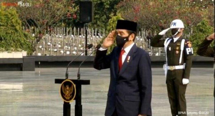 Jokowi Pimpin Upacara Ziarah Nasional di TMP Kalibata