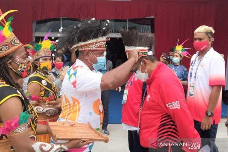 Kontingen Pertama PON Papua Disambut Spesial